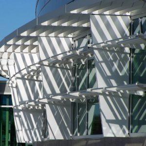 Aluminum Louvers Sunshades KVCC